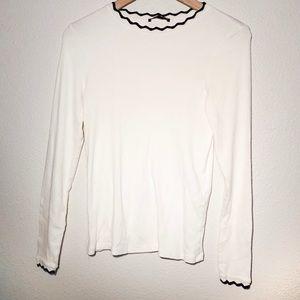 Zara   Knit Long-sleeve Top